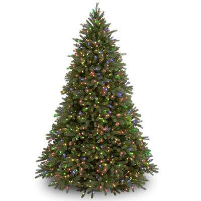 9 ft. Jersey Fraser Fir Artificial Christmas Tree with Multicolor Lights