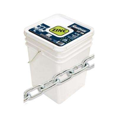 5/16 in. x 70 ft. Zinc-Plated Grade 30 (G30) Proof Coil Chain - 1,900 lbs Safe Work Load - Plastic Bucket