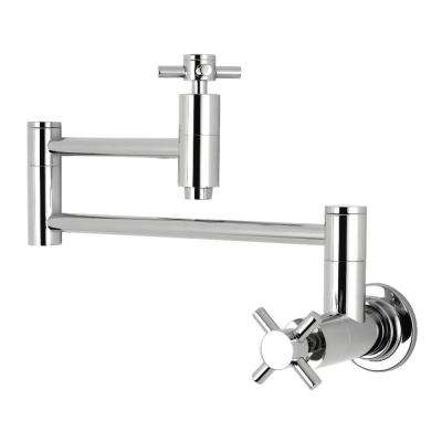 Concord Wall-Mounted Potfiller Cross Handle in Polished Chrome