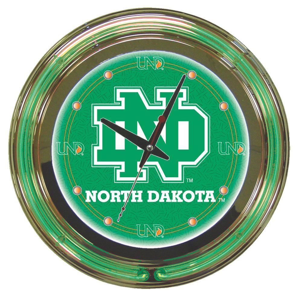 14 in. University of North Dakota Neon Wall Clock