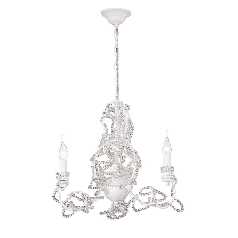 Eurofase Fantasia Collection 3-Light White Clear Chandelier