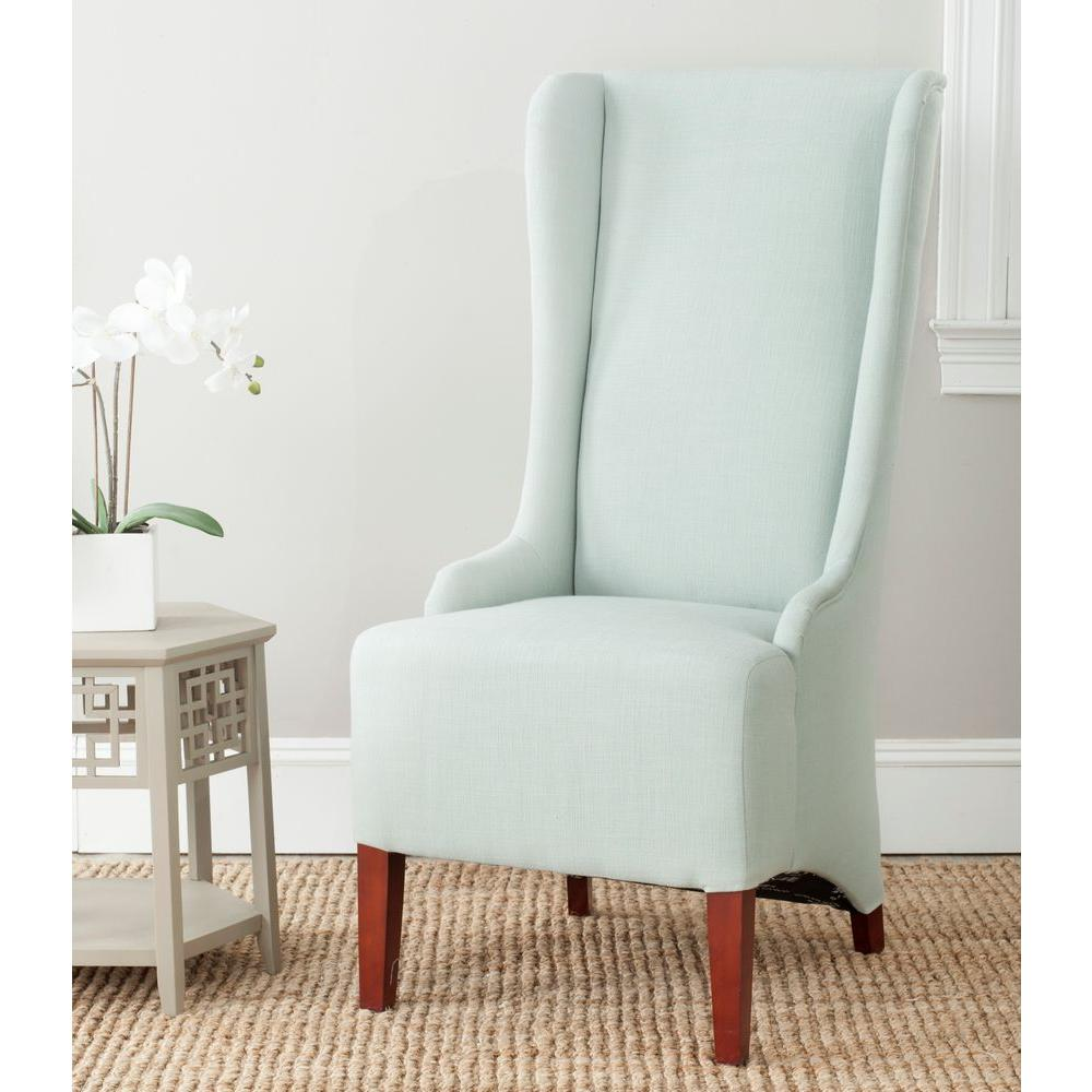 safavieh bacall seafoam green cotton blend dining chair mcr4501j rh homedepot com seafoam green chair pads
