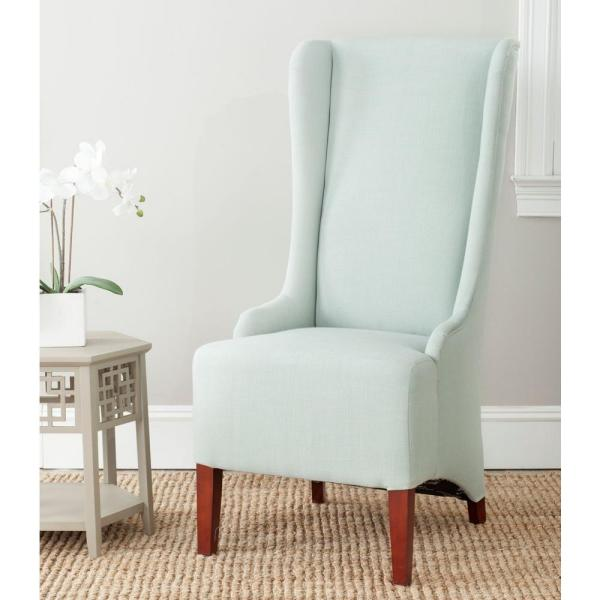 Safavieh Bacall Seafoam Green Cotton Blend Dining Chair MCR4501J