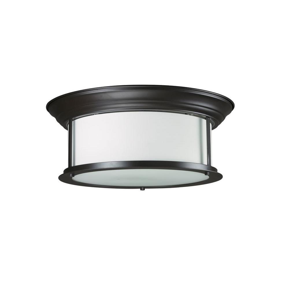 Filament Design Lawrence 3-Light Bronze Incandescent Ceiling Flushmount
