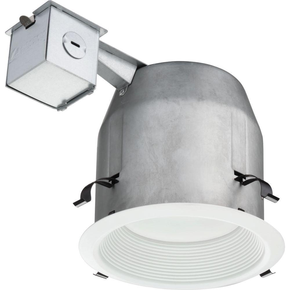 Lithonia Lighting 5 in. Matte White Recessed LED Baffle Kit