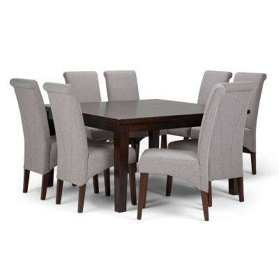 Avalon 9 Piece Cloud Grey Dining Set