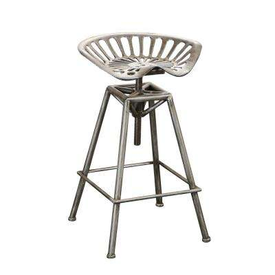 27 in. Chapman Black Adjustable Bar Stool