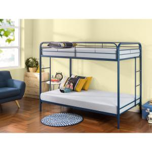 Zinus Quick Lock Twin Over Twin Metal Bunk Bed With Dual Ladders Hd