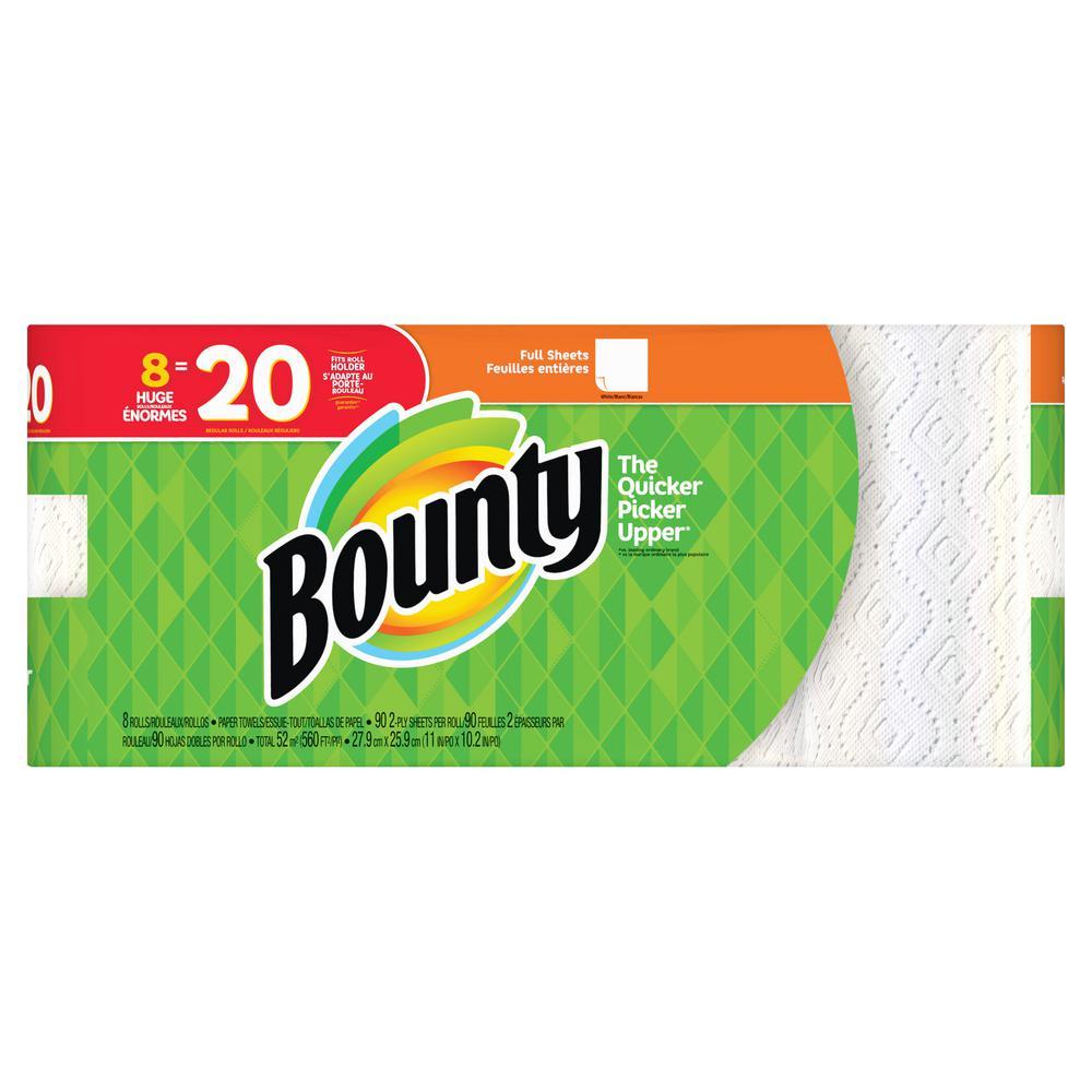 Bounty White Paper Towels (8-Huge Rolls)