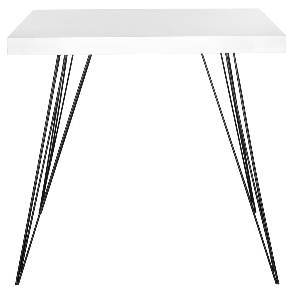 Wolcott White and Black Dining Table