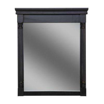 Valencia 35 in. L x 28 in. W Framed Wall Mirror in Antique Black