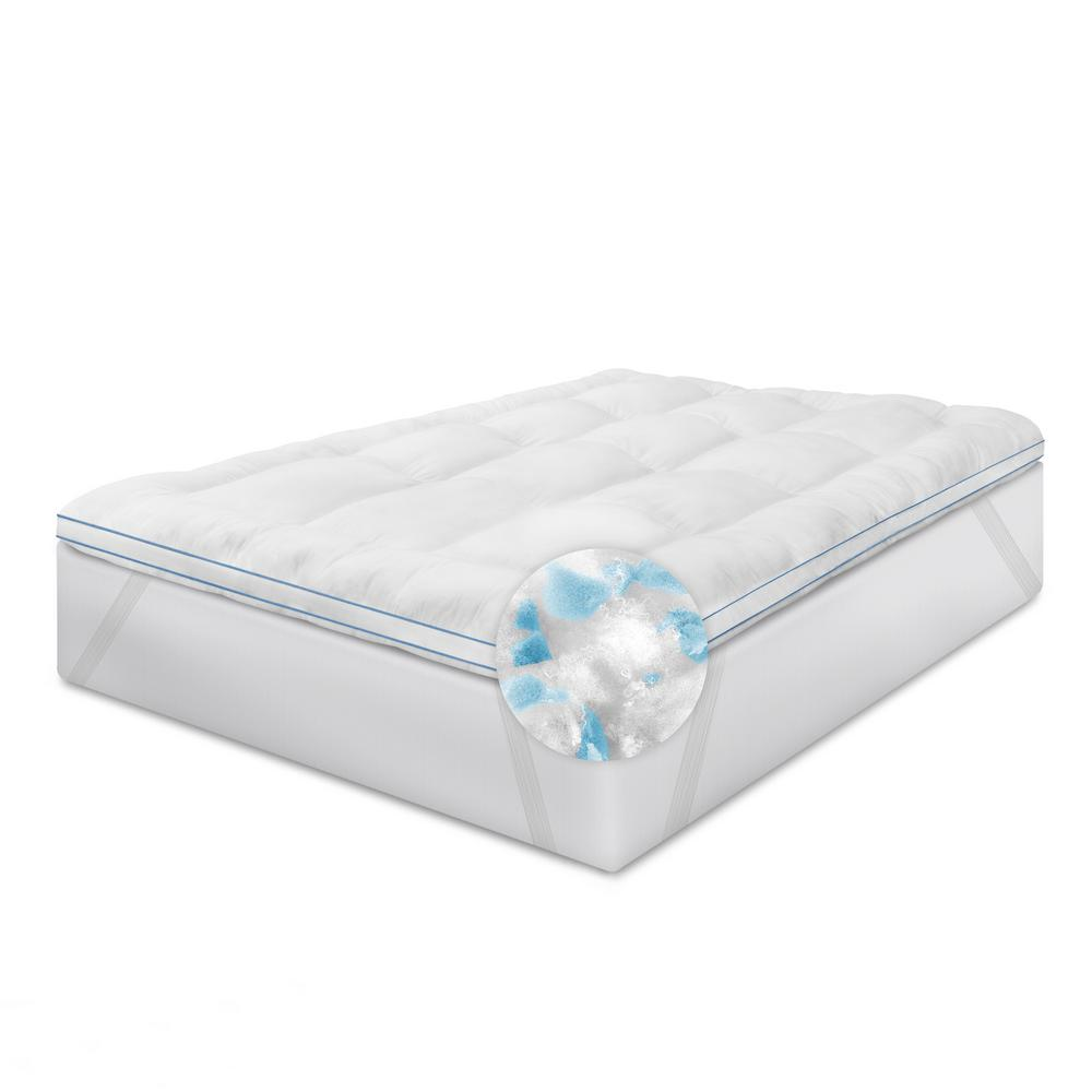 Restonic 3 in. Memory Fiber and Memory Foam Hybrid Queen ...