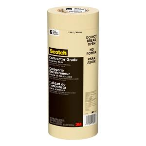 3M Scotch 1 88 in  x 60 1 yds  Contractor Grade Masking Tape  (6-Pack)-2020-48TP6 - The Home Depot