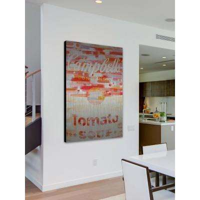 """18 in. H x 12 in. W """"Campbells"""" by Parvez Taj Printed Brushed Aluminum Wall Art"""