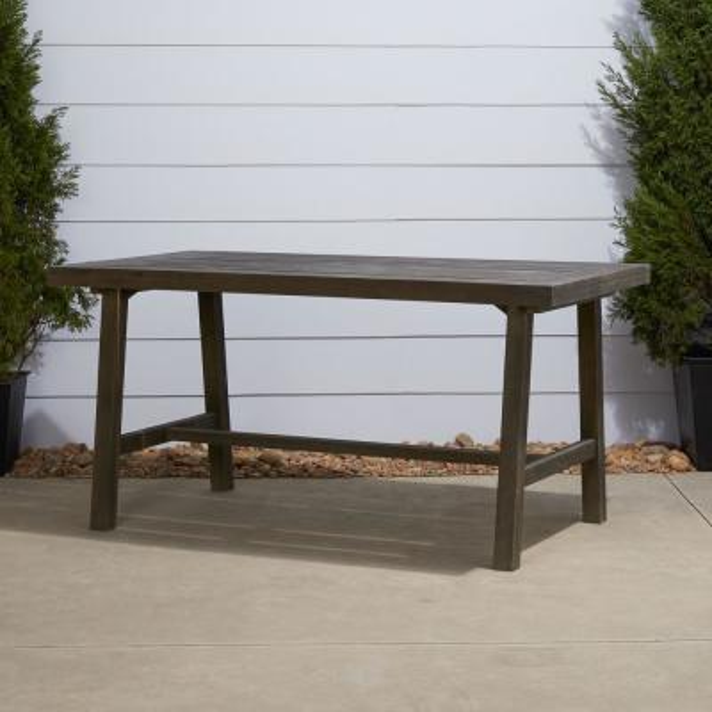 Renaissance Rectangular Wood Outdoor Dining Table