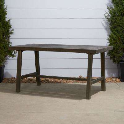 Renaissance Rectangular Wood Outdoor Dining Table