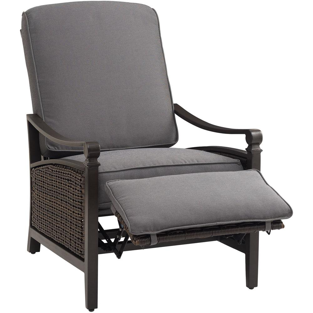 Incroyable La Z Boy Carson Chestnut And Espresso All Weather Wicker Outdoor Reclining  Patio Lounge