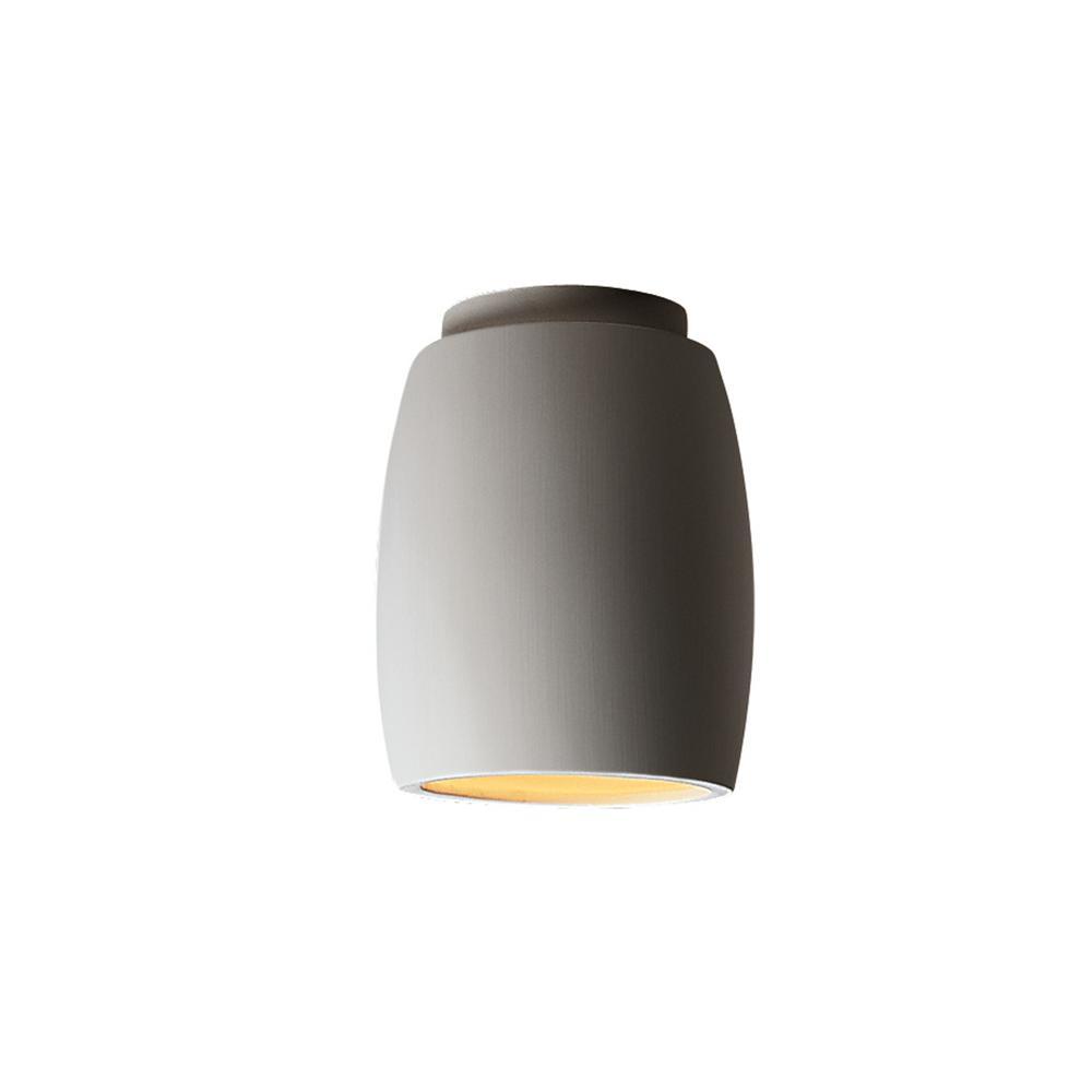 Radiance 1-Light Curved Bisque Flush-Mount