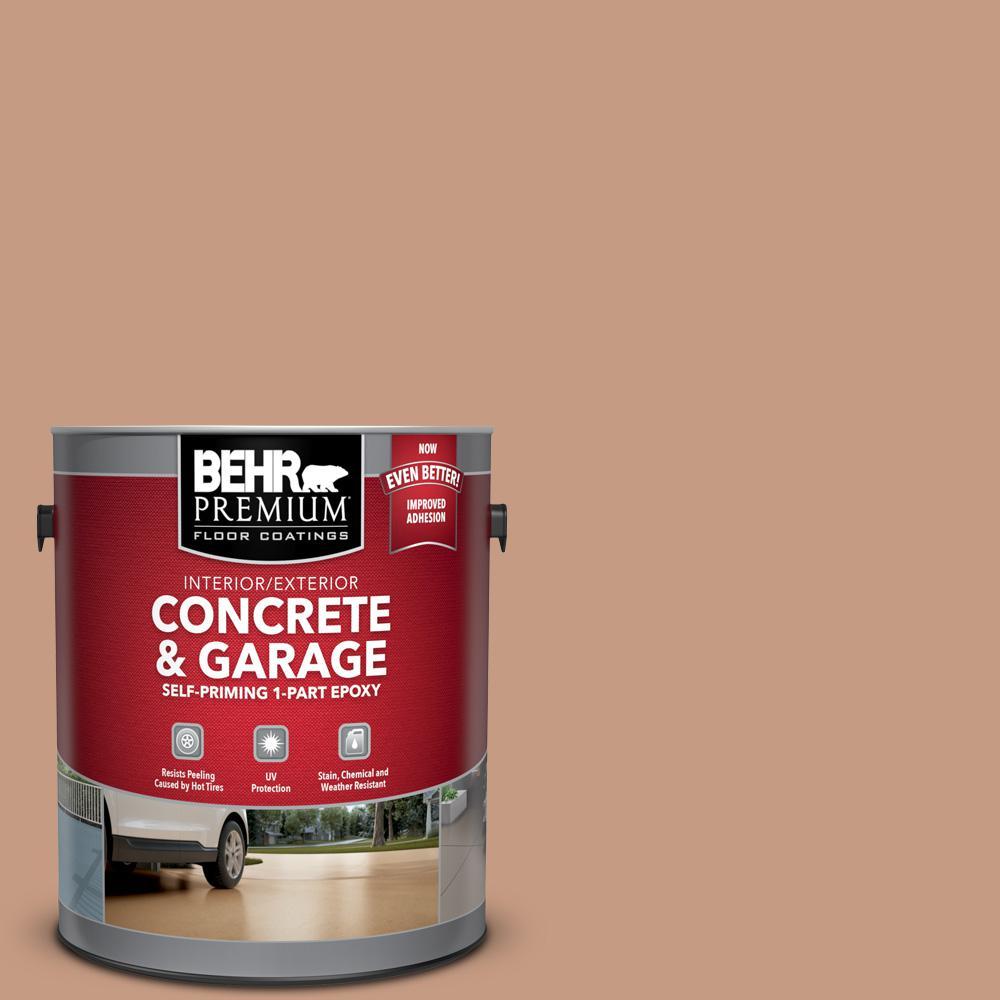 BEHR Premium 1 gal. #S210-4 Canyon Dusk Self-Priming 1-Part Epoxy Satin Interior/Exterior Concrete and Garage Floor Paint