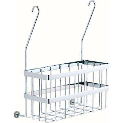 Over-the-Towel Bar Basket in Polished Chrome