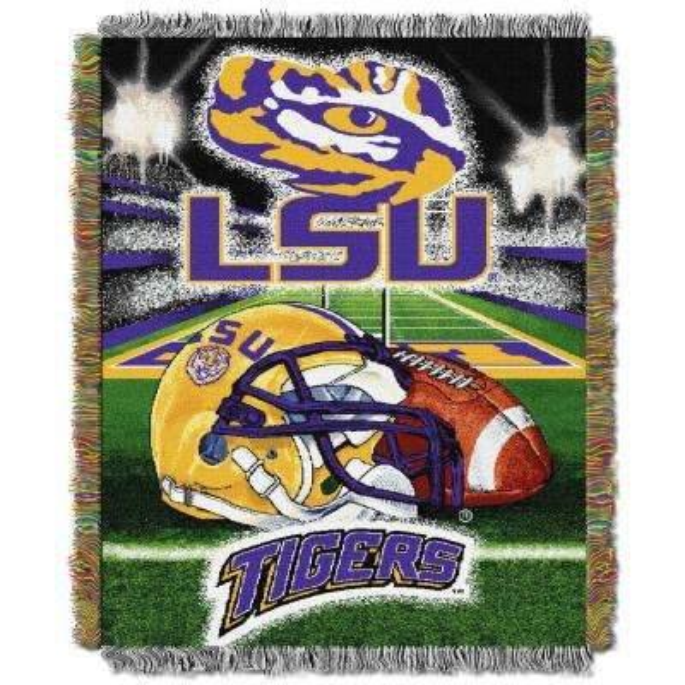 LSU Multi Color Tapestry Throw HFA