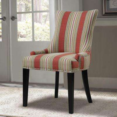 Red Fabric Side Chair