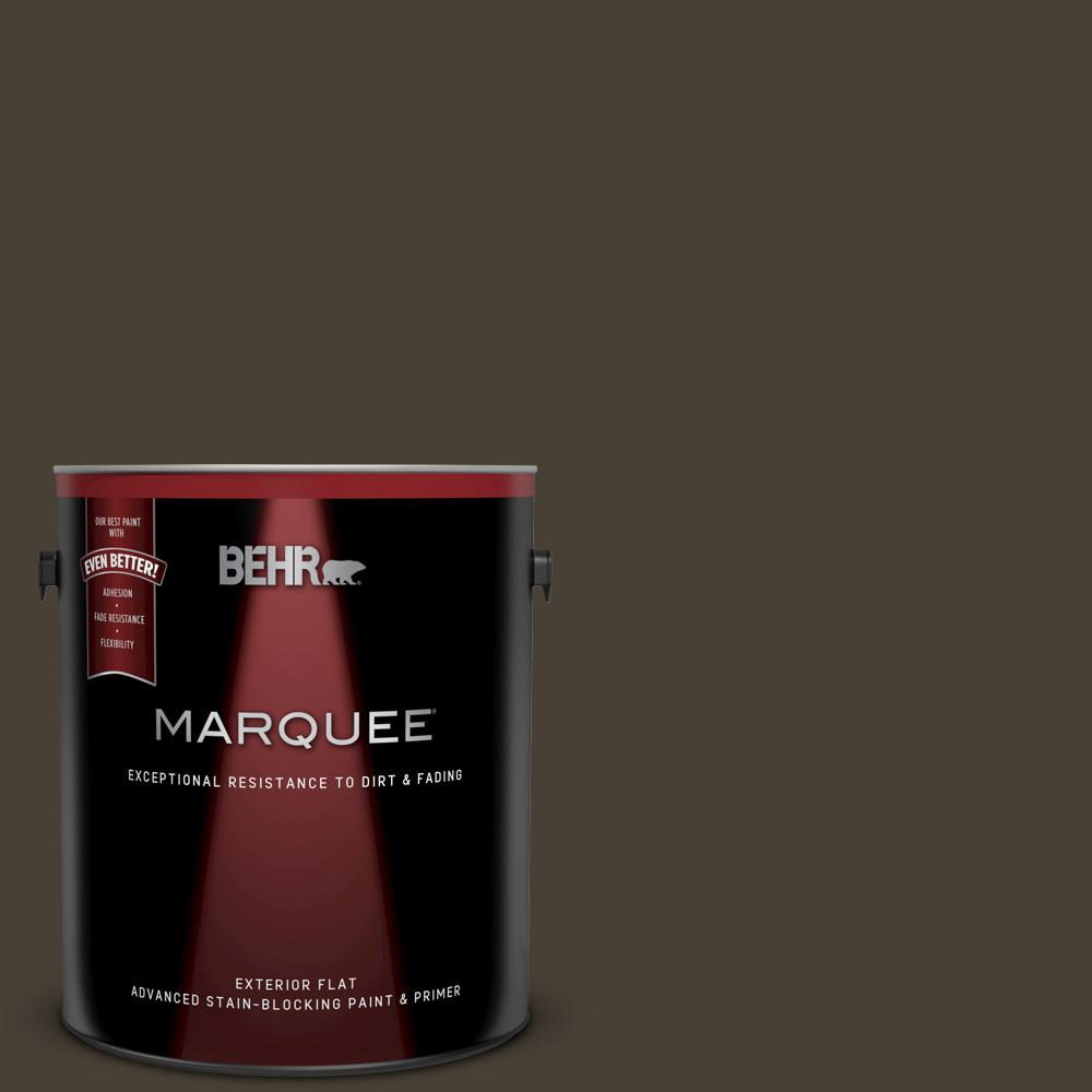 Behr Marquee 1 Gal Ppu5 20 Sweet Molasses Flat Exterior Paint And Primer In One 445301 The Home Depot