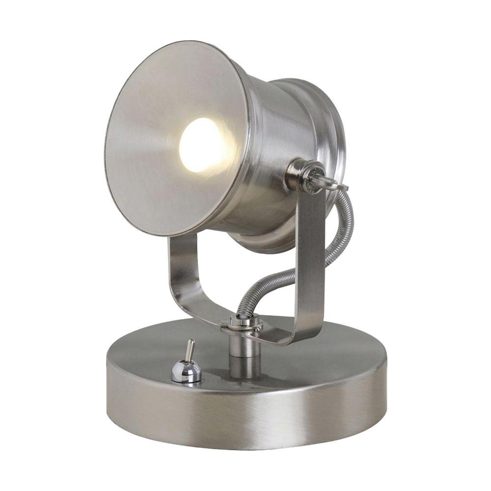 The Depot 5 Hampton Bay Home 1 Spotlight Integrated 002 Desk InBrushed Nickel 19274 Lamp Led NnOvmw80