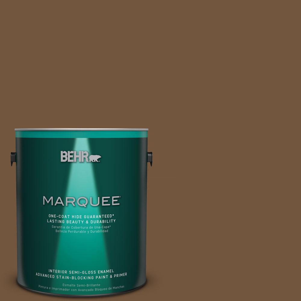 BEHR MARQUEE 1 gal. #MQ2-9 Clockworks One-Coat Hide Semi-Gloss Enamel Interior Paint