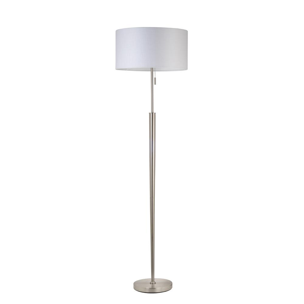 65 in. Brushed Nickel Floor Lamp