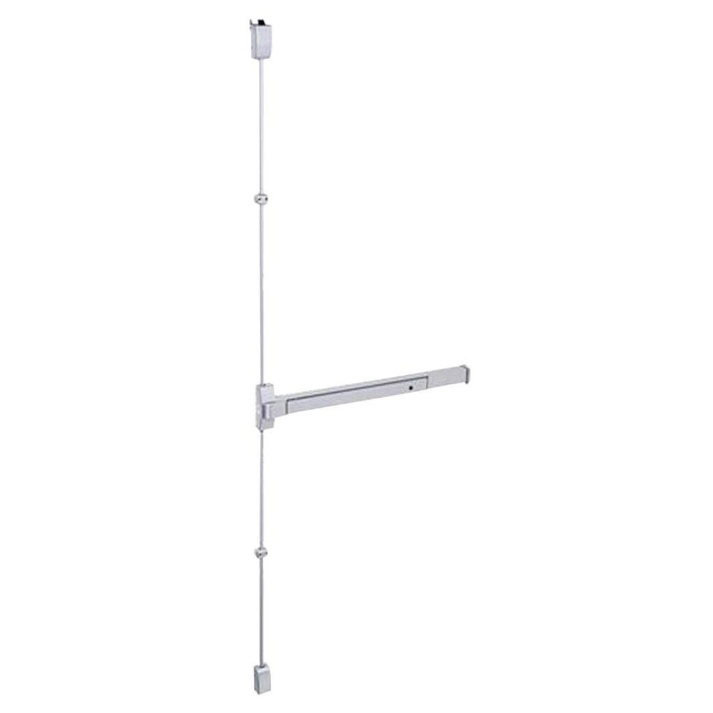Global Door Controls 36 in. Stainless Steel Fire Rated Touch Bar Surface Vertical Rod Exit Device