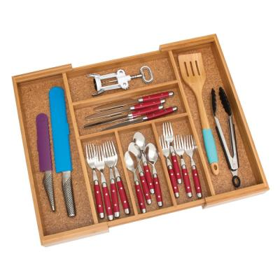 13-22.5 in. Bamboo Expandable Flatware Organizer