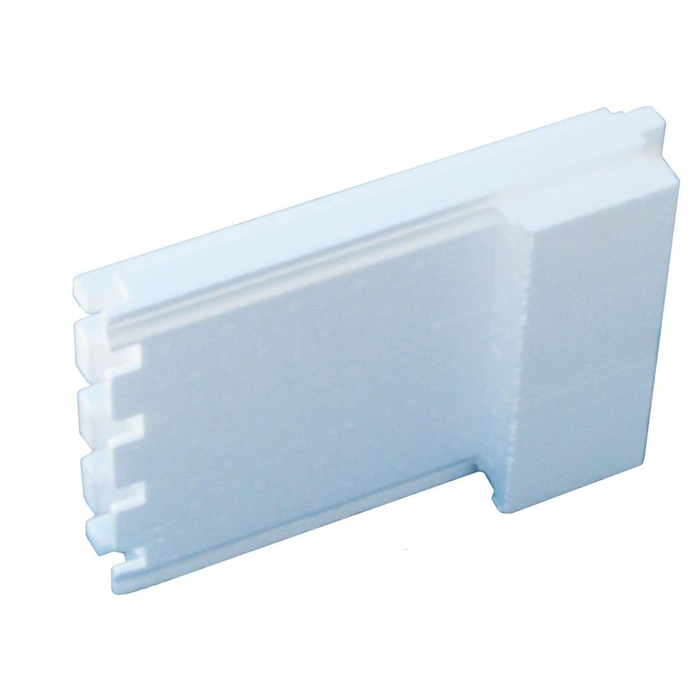 Smartblock 8 in icf end pieces 8 lbs 14 5 in w x for Icf insulated concrete forms