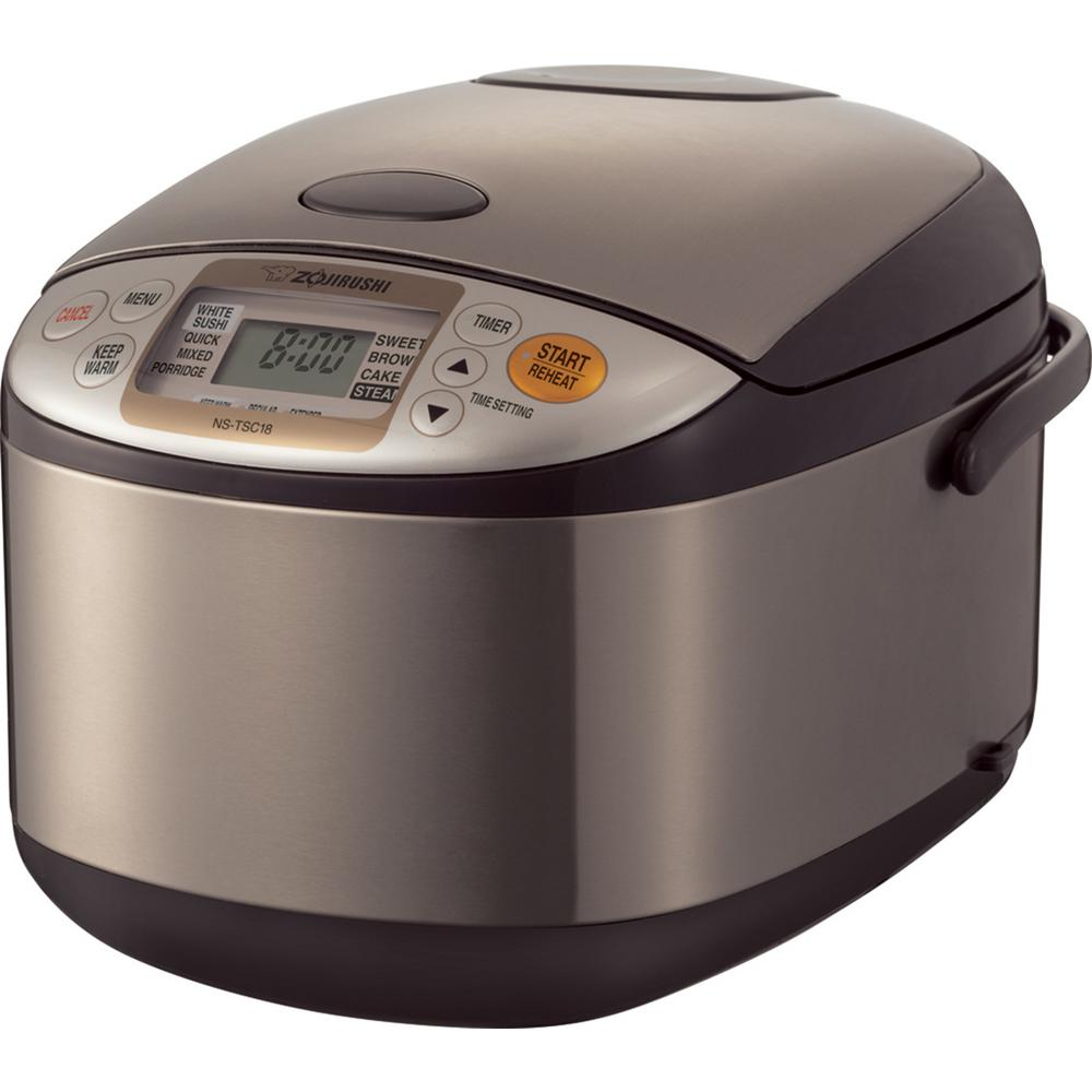 Zojirushi Micom Rice Cooker and Warmer Stainless 10 Cup S...