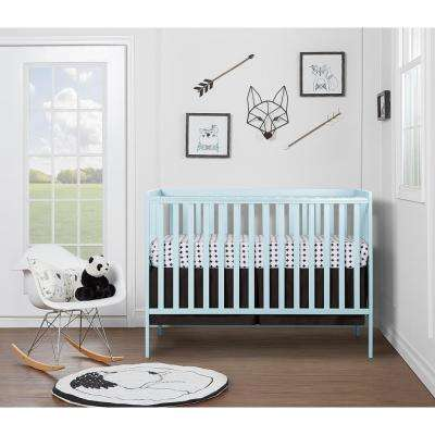 Synergy Sky Blue 5-in-1 Convertible Crib
