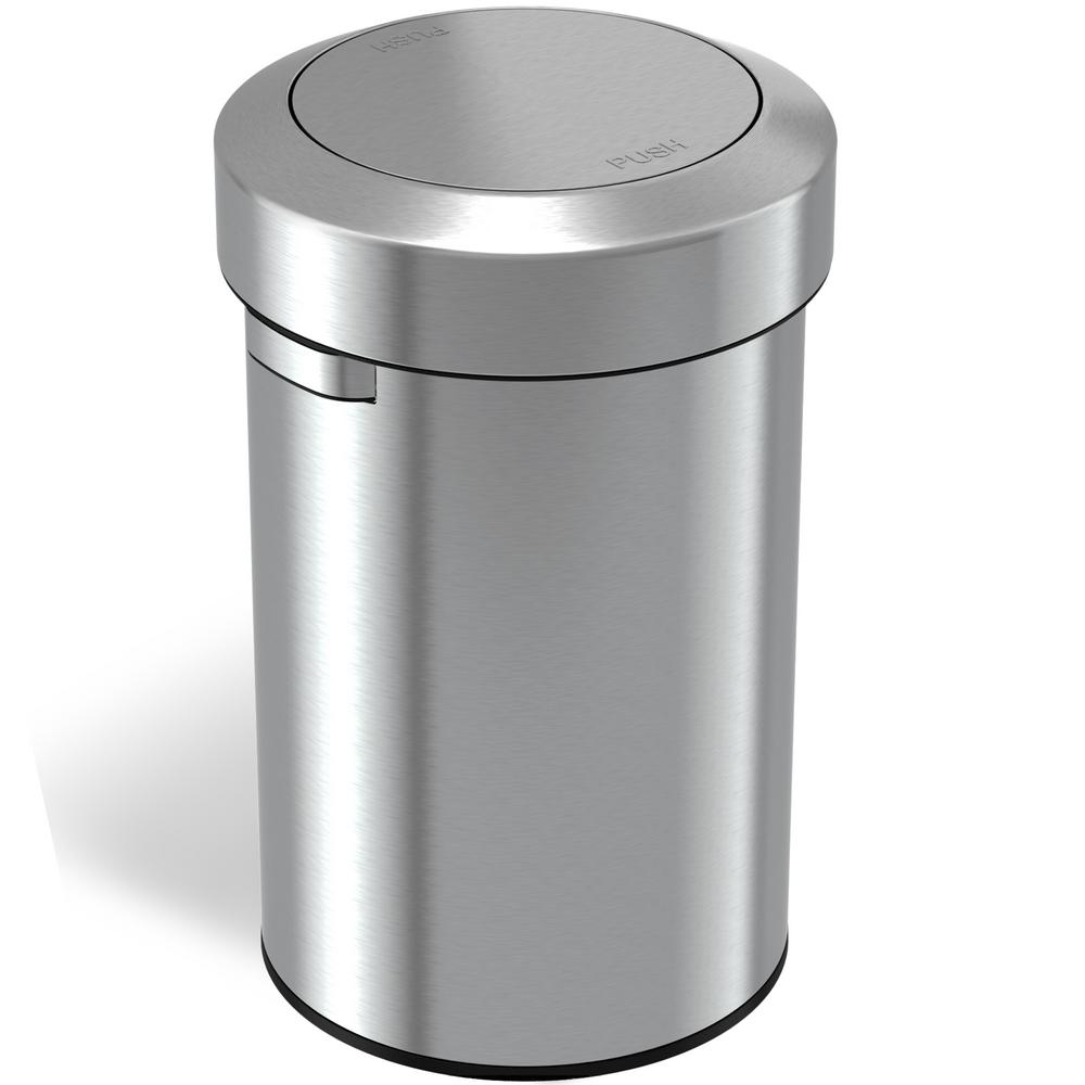 iTouchless 17 Gal. Stainless Steel Swing Top Trash Can
