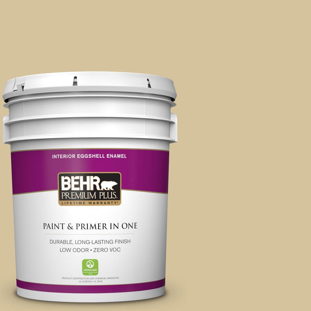 BEHR Premium Plus Home Decorators Collection 5-gal. #HDC-NT-02 White Oak Zero VOC Eggshell Enamel Interior Paint