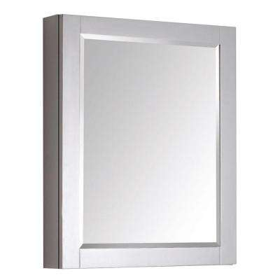 Transitional 30 in. L x 24 in. W Framed Wall Medicine Cabinet in Chilled Gray