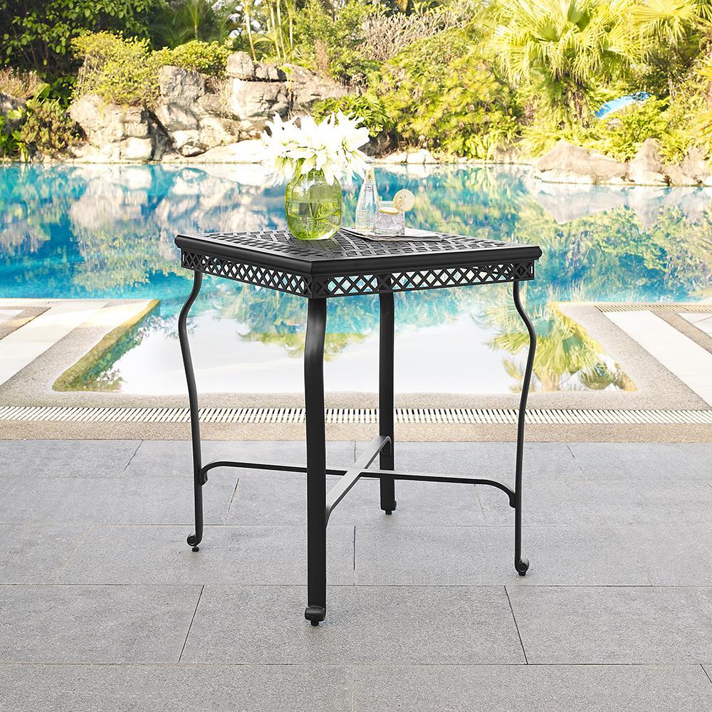 Palermo Cast Aluminum Patio Outdoor Bistro Table