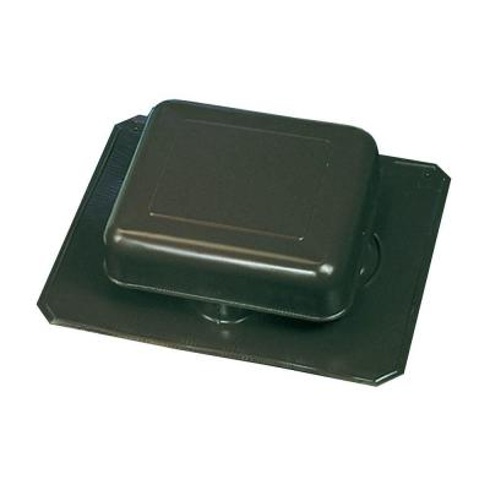 50 sq. in. NFA Weatherwood Aluminum Square-Top Roof Static Vent (Carton of 10)