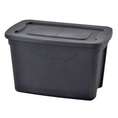 20 Gal. Storage Tote in Black (4-Pack)
