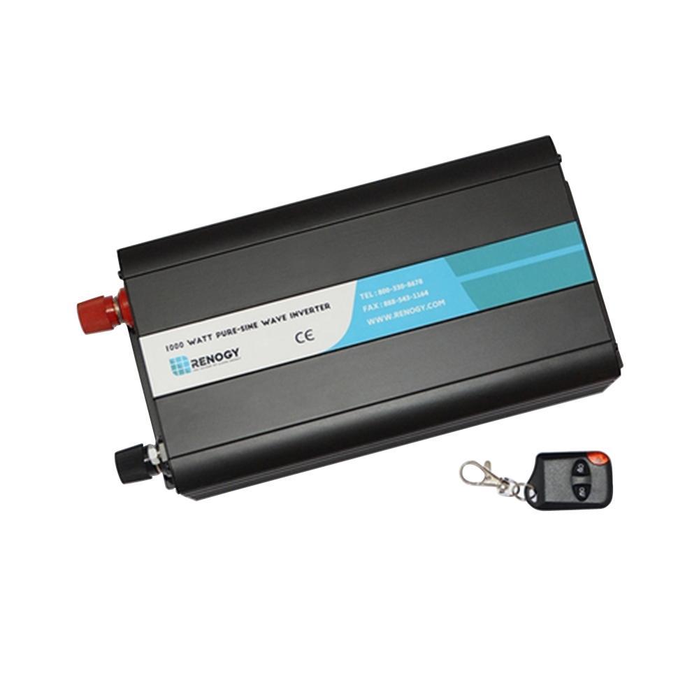 1000W 12-Volt Off-Grid Pure-Sine Wave Battery Inverter wi...