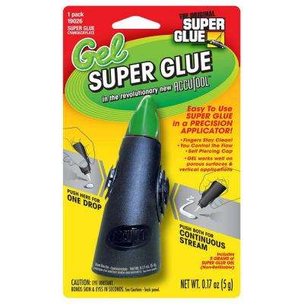 0.17 oz. Super Glue Gel Accutool Precision Applicator (12-Pack)