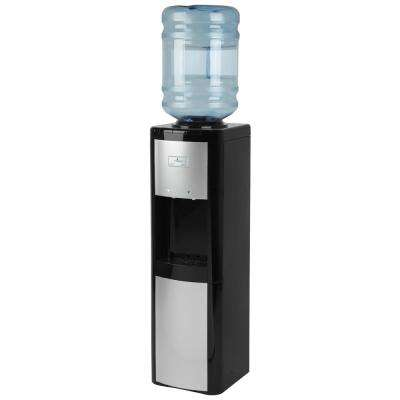 Top Load Cold and Room Temperature Water Cooler in Black and Platinum