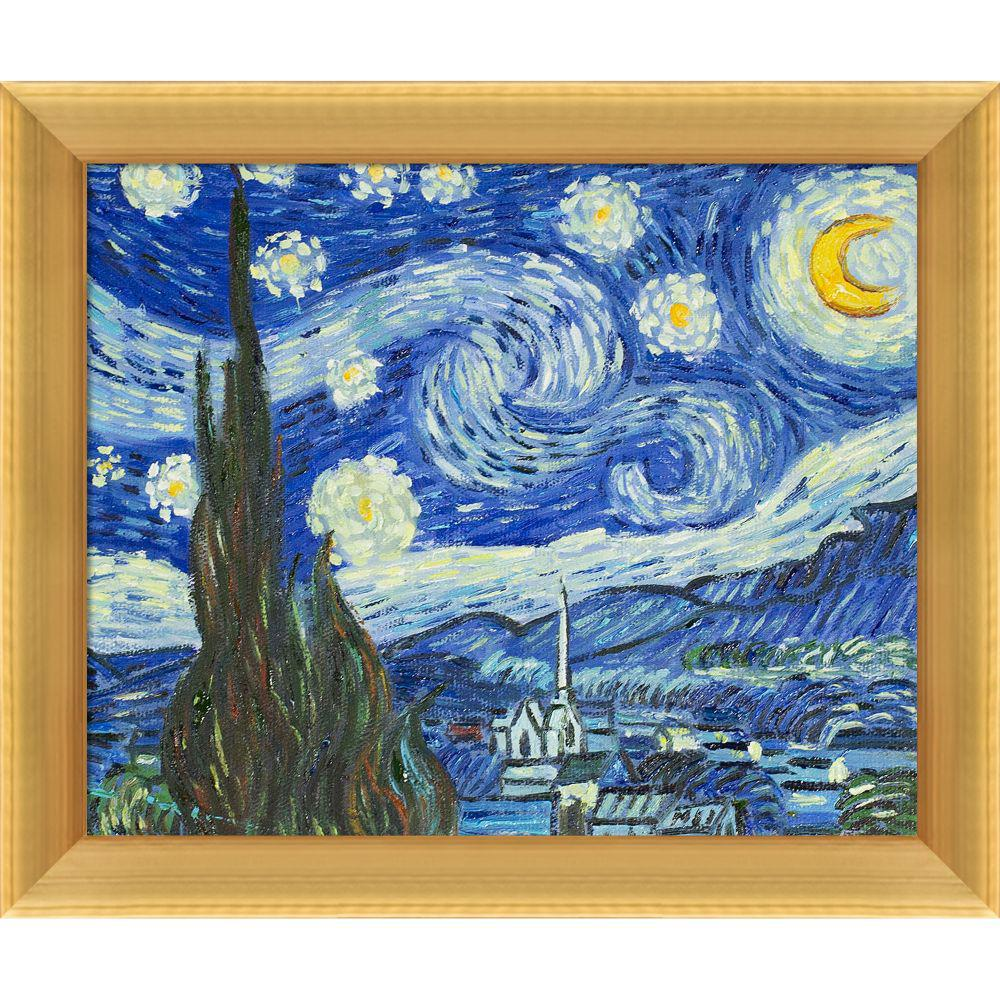 LA PASTICHE Starry Night with Piccino Luminosoby Vincent Van Gogh Framed Abstract Wall Art 10.5 in. x 12.5 in., Multi-Colored was $813.0 now $253.9 (69.0% off)