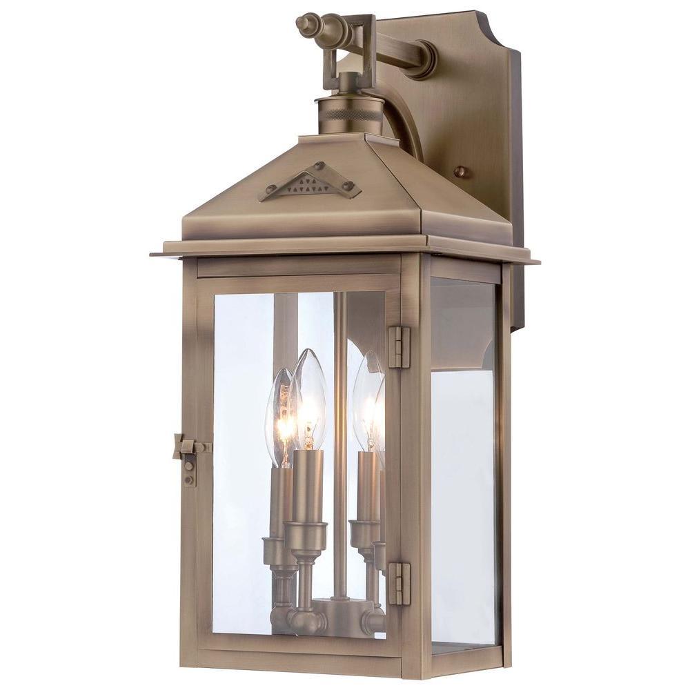 Eastbury 4-Light Colonial Brass Outdoor Wall Mount