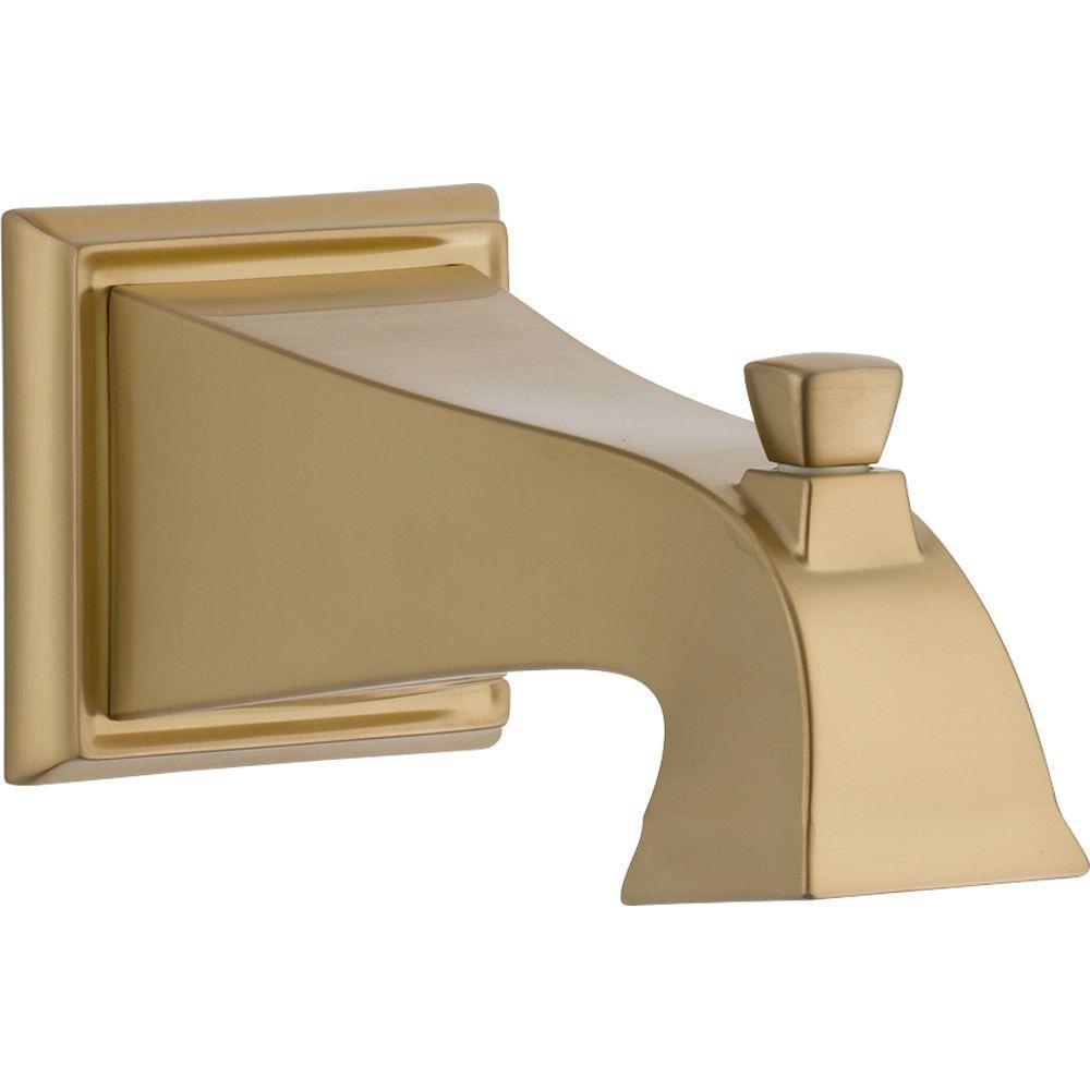 Delta Dryden Pull-Up Diverter Tub Spout in Champagne Bronze