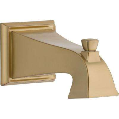 Dryden Pull-Up Diverter Tub Spout in Champagne Bronze