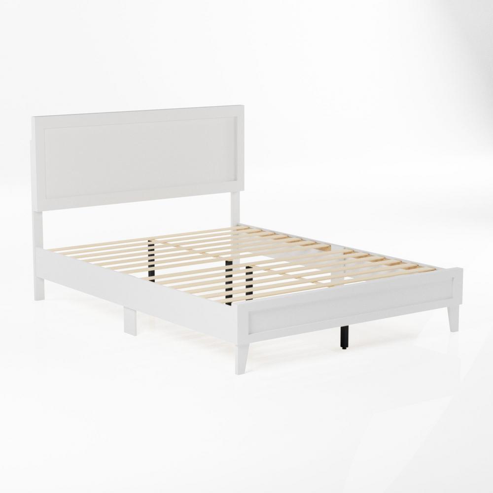 Leah Classic Wood Platform Bed - Full - White