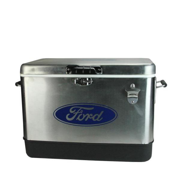 54 qt. Stainless Steel Officially Licensed Ford Cooler